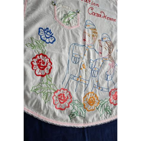 apron embroidery pattern vintage embroidered maid hostess apron ww2 pattern