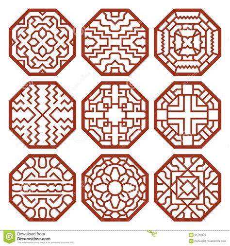 korean pattern vector free korean traditional vector patterns ornaments stock vector