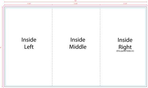 z fold card template us press templates 12 x 9 3panel z fold