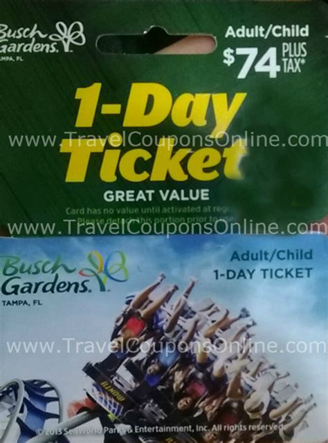 Busch Gardens Gift Cards - publix orlando 2014 sea world busch gardens discounts travel coupons online