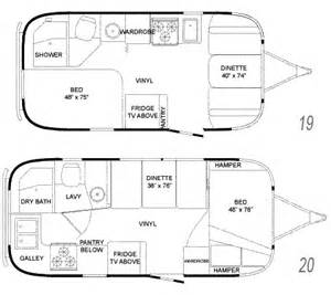Airstream Travel Trailer Floor Plans Roaming Times Rv News And Overviews
