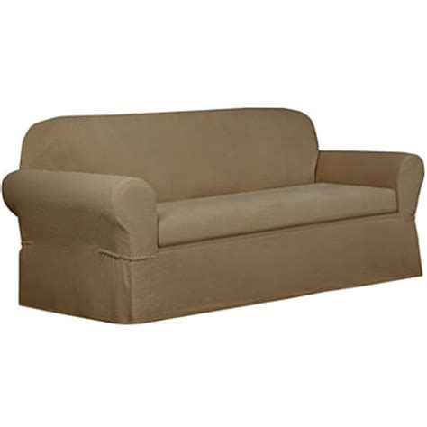 maytex smart cover stretch suede 2 pc sofa slipcover maytex smart cover stretch torre 2 pc sofa slipcover