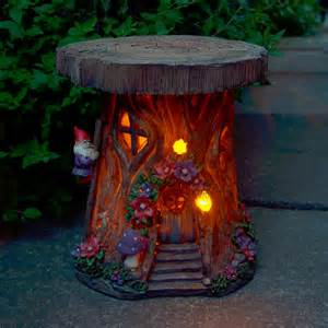 Led Decorative Lanterns Solar Powered Tree House Led Garden Ornament Patio Outdoor