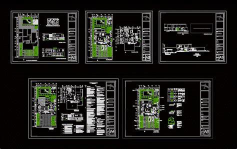 villa layout dwg remarkable modern villa plan dwg contemporary best