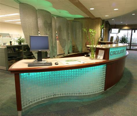 Library Reception Desk Folsom Library Interior Design Csp Interior Concepts Pinterest Receptions Reception Desks