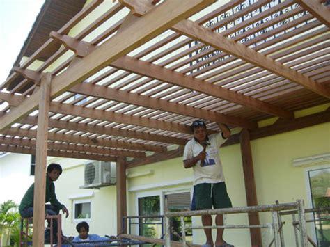 awnings thailand house pergola in pattaya thai garden design