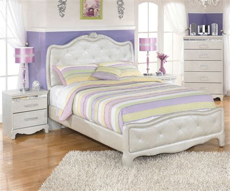 girls full size bedroom set zarollina b182 full size upholstered bed girl s bedroom