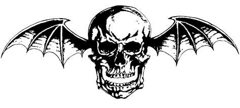 bat tattoo png avenged sevenfold deathbat vector png b w logo by