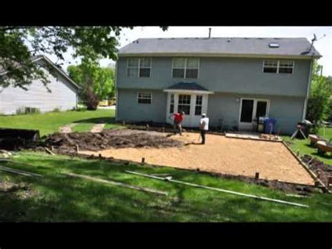 how to make a basketball court in your backyard backyard basketball court build youtube