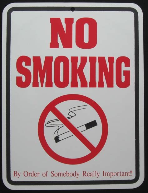 No Smoking Sign Ebay | no smoking sign funny novelty smoker smoke ebay