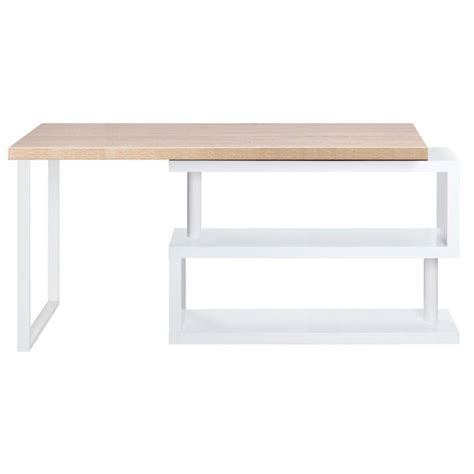 White Wood Corner Desk Corner Office Desk And Bookshelf In Wood And White Buy 30 50 Sale