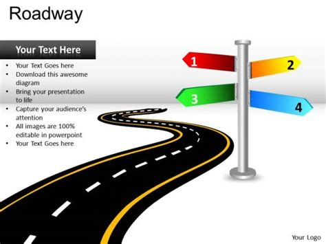 15 best images of powerpoint road map graphic free