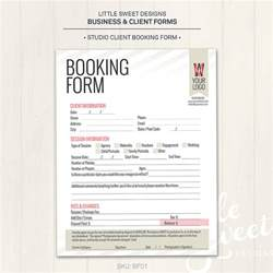 booking form template photography studio client booking form photoshop template