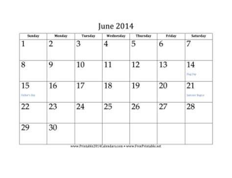 2014 june calendar template printable june 2014 calendar