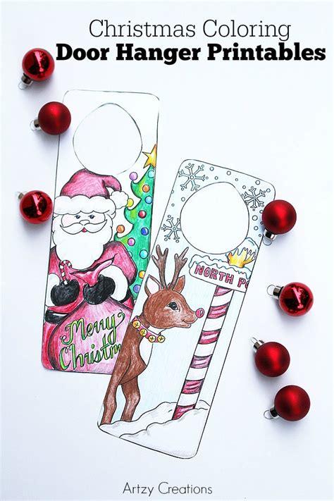 printable christmas door hangers christmas coloring page door hanger printables the