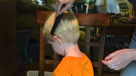 cutting boy hair with scissors how i cut my toddler s hair youtube