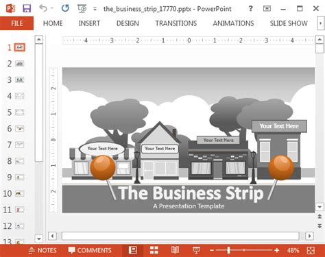 Animated Business Strip Powerpoint Template Animated Ppt Templates Free 2015