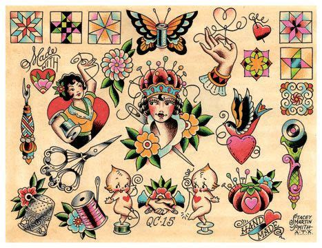 sewing tattoo designs vintage quilting sewing crafty crafter flash