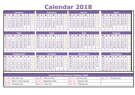 printable calendar 2018 with bank holidays 2018 holiday calendar printable federal bank holidays usa