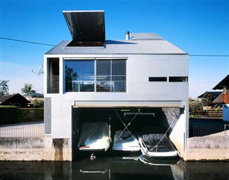 modern boat house boathouse a bright shiny place modern architecture