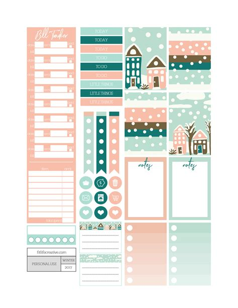 printable planner kits winter wonderland free printable monthly planner kit