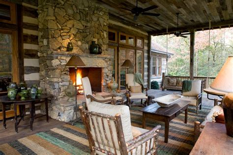 log cabin porch dreams decor pinterest 15 charming porches hgtv