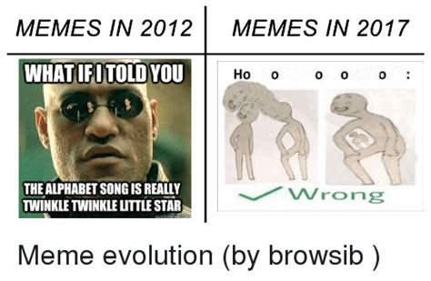 Memes Of 2012 - memes in 2012 memes in 2017 what fotold you ho o 0 the