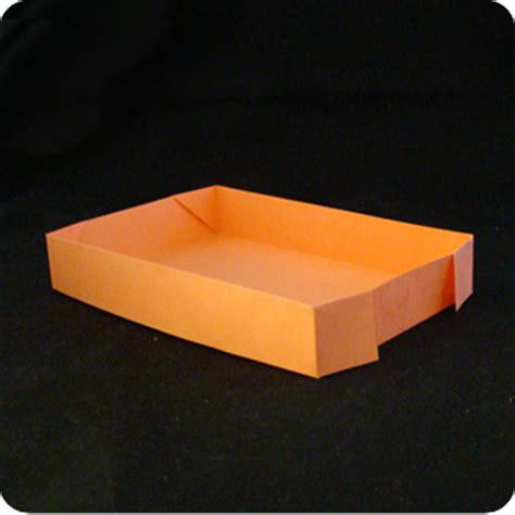 Origami Paper Tray - rectangular tray make origami