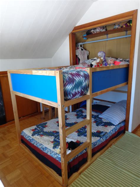 Bunk Bed With Closet Why We Put Our Bunk Bed In The Closet Offbeat Home