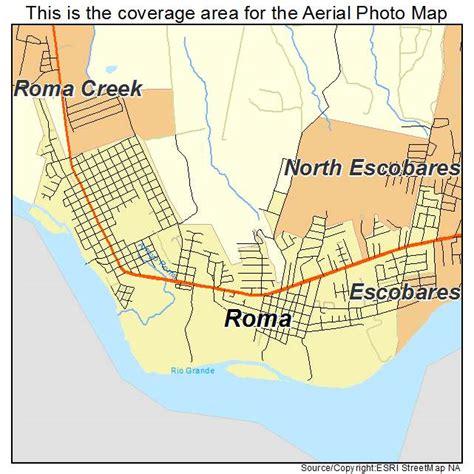 roma texas map aerial photography map of roma tx texas