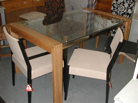 Oak And Glass Dining Table And Chairs Sofa Sale Furniture Clearance Dining Furniture