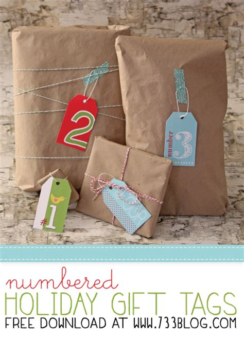printable numbered gift tags free printable holiday tags inspiration made simple