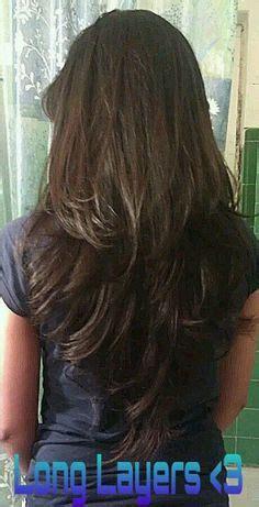 hir layer back pinterest long layered haircuts back view v cut layers on pinterest