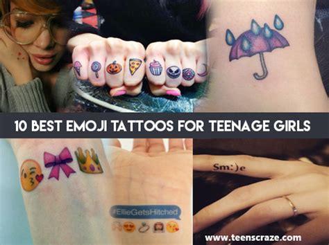 emoji girl tattoo emoji tattoo ideas for teenage girls