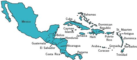 central america the caribbean map map of central america and caribbean driverlayer search