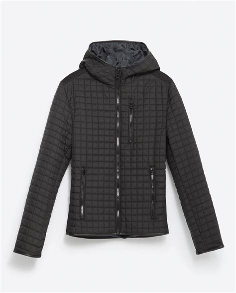 Black Quilted Jacket by Zara Quilted Jacket In Black For Lyst