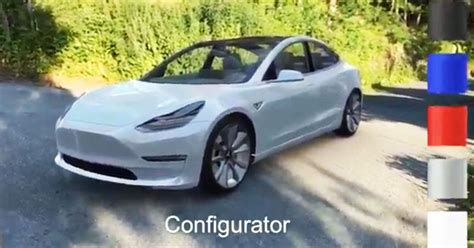model 3 colors apple arkit user puts a color changing tesla model 3 in his driveway before the car s release