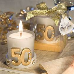 Wedding Anniversary Favors by Gold Candle 50th Anniversary Favors