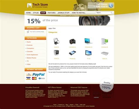 joomla ecommerce template hot ecommerce hotthemes