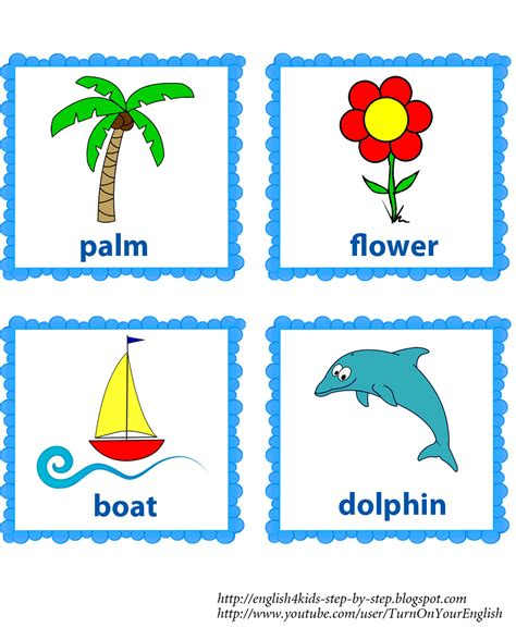printable word flashcards for toddlers summer song for kids