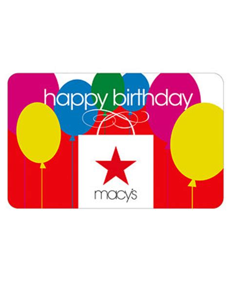 Macy S E Gift Card - happy birthday macy s bag e gift card gift cards macy s