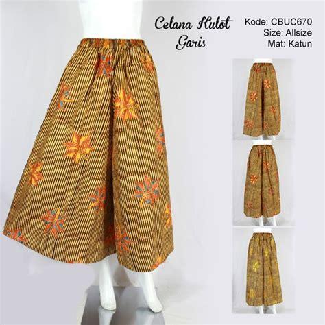 Kulot Garis by Celana Kulot Batik Motif Garis Celana Murah Batikunik