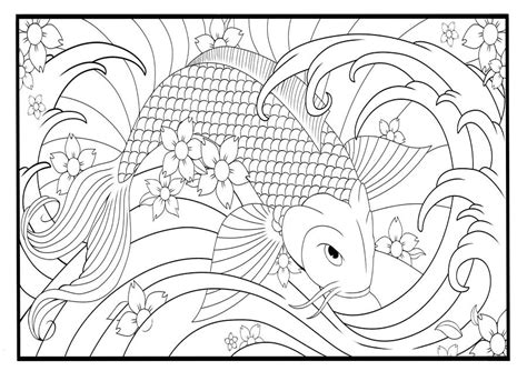 coloring page koi fish koi fish coloring pages coloring pages