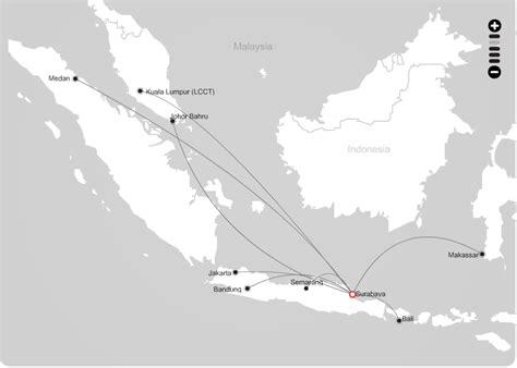 airasia jakarta surabaya indonesia airasia route map from surabaya