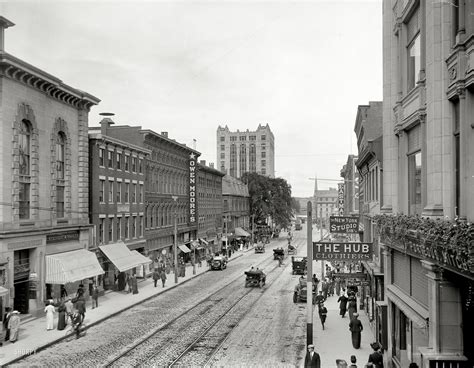 Small American Cities shorpy historic picture archive maine street 1910 high