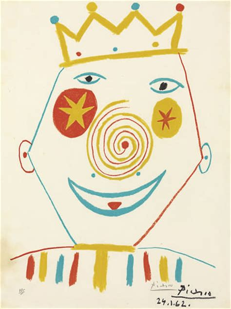 picasso paintings clowns after pablo picasso clown christie s