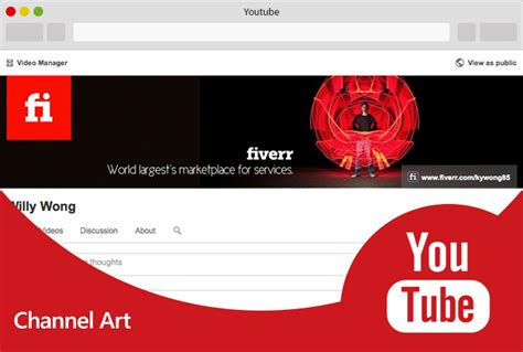 design youtube cover design 2 beautiful youtube channel art and 2 profile