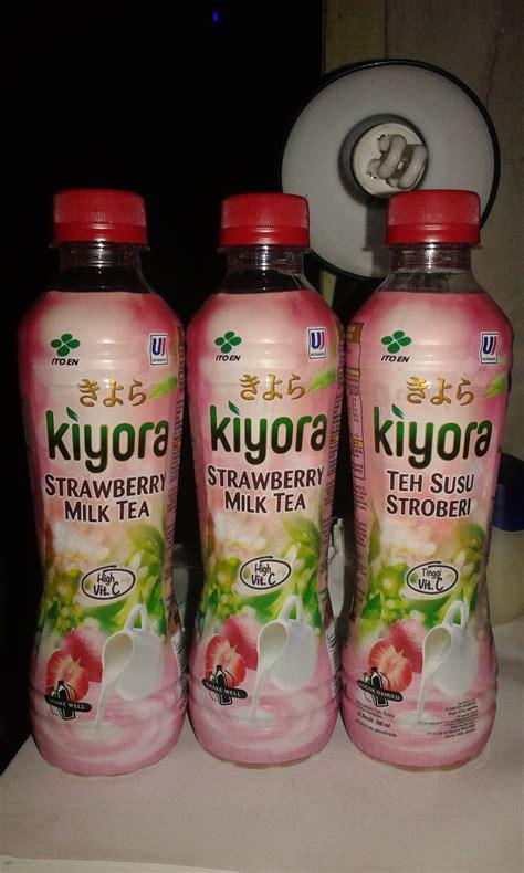 Teh Kotak Uj lifull kiyora strawberry milk tea earlykkamjo