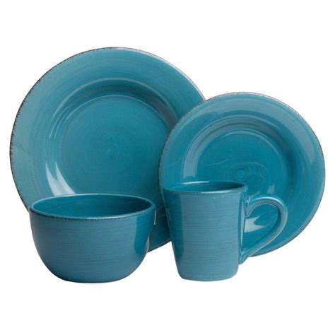 tag sonoma 16 piece dinnerware set in turquoise tag556109