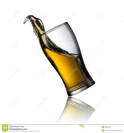 glass spilling cold beer spill stock photo image 43280816